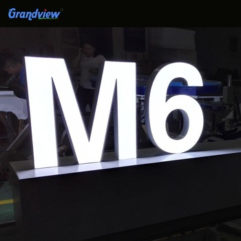 Fabricated signs illuminated led sign 3D channel lettering logo custom signage