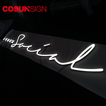 Cosun Sign hot sell 3d colorful facelit and sidelit acrylic led letter faux neon