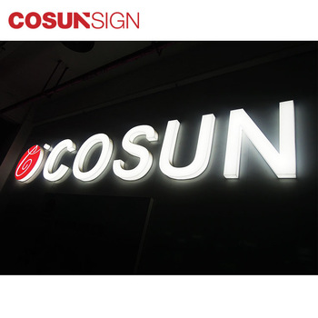 Custom Luminous Building Signage  LED Frontlit Sign Letter RGB LED Awnings Signs and Cabinet Sign