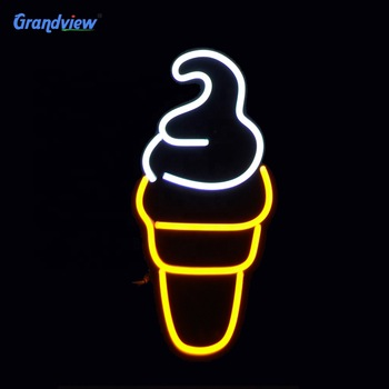 Custom new style neon led sign ice cream with rgb neon sign