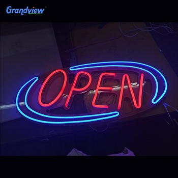 Best selling silicone led open neon light sign for decoration