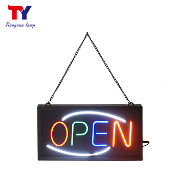Molding plastic base open led neon open sign for bars game room clubs