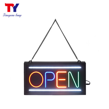 Wholesale 24 hours open diy colorful faux led neon light sign