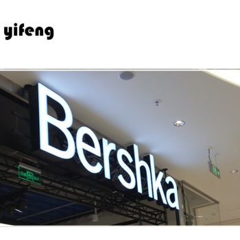 Waterproof led illuminated outdoor light channel store front led signs