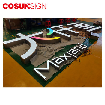 Outdoor 3D stainless steel marquee letter sign board for car shop decoration
