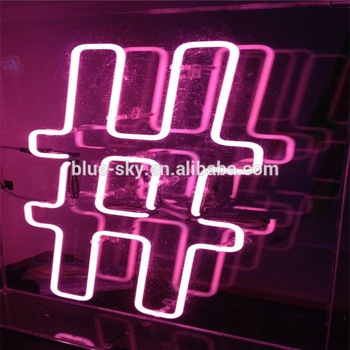 Electronic Acrylic Led Sign Symbol letters Neon Sigh Table