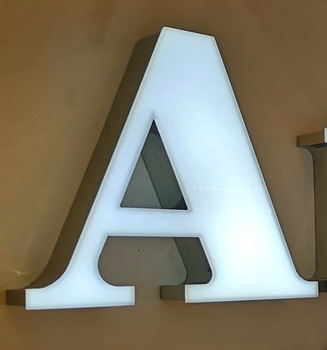 wholesale frontlit acrylic face 3d led sign light letter