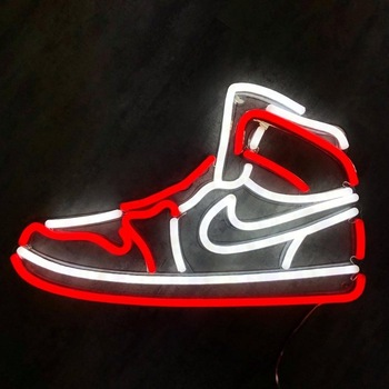 China supplier wholesale custom shoes led neon sign