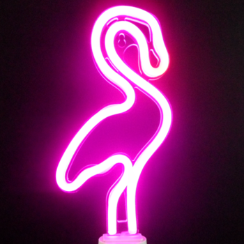 Hot sale flamingo cactus custom led neon desk table lamp light up signs for home wall decor
