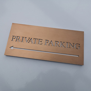 Rose Gold Color Stainless Steel Alphabet Letter Charms 3mm Solid Laser Cutting Signage