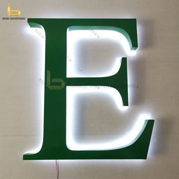 good quality 3d big led letters led backlight signage for advertising