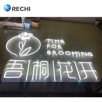 RECHI Customize Advertising Light Signage For Coffee Shop/Bar/Wedding Decoration Waterproof Acrylic Led Neon Light Sign Letters