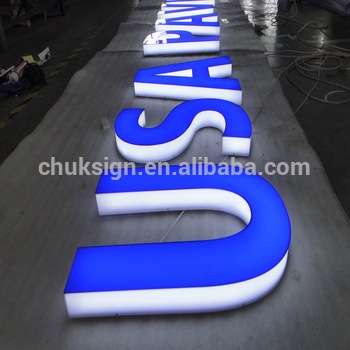 Custom make advertising led designed LED channel letter LED illuminated letter signage