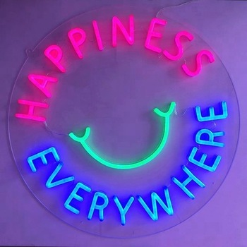 New Fashion 12V PVC  Wholesale Neon Signs Custom Neon Acrylic Board Flamingo LED Signage Sign up For Home