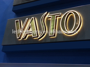 Outdoor stainless steel acrylic LED light letters led moving sign led letter signage for brand name shop front name