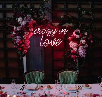 Led flex wedding signage neon light bar club party mr and mrs marry me letters custom neon sign