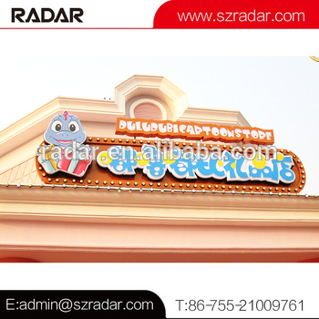Custom Store Advertising Vacuum Forming 3D Acrylic Letter Signage /Illuminated LED light Letter Signage for Amusement Park Shop
