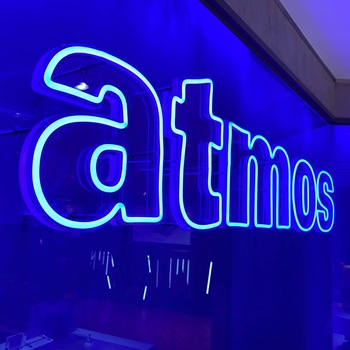 Pvc 12v Company Name With Acrylic Back Board Shop Front Soft Neon Customized 3d Logo Signage Orange For Business