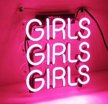 Girls girls girls neon sign acrylic glass neon tubing letters signage light rohs certificate oem china suppliers E