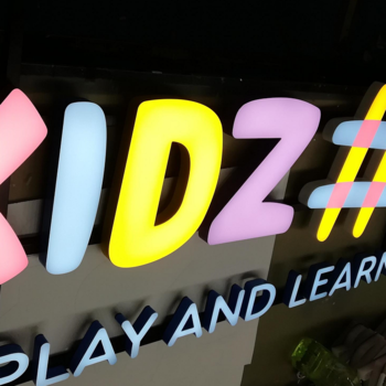 solid acrylic LED light letter signs