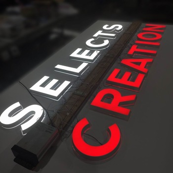 Custom Personalized Vinyl Frontlit Led 3D Acrylic Signage for Outdoor