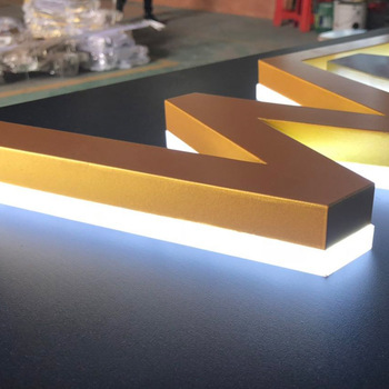 Waterproof 3d letters stainless steel led backlit letter signage  outdoor led light board made in China