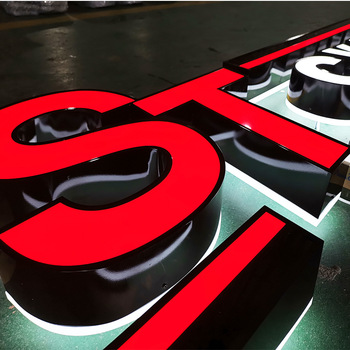 Stainless Steel Backlit Led 3D Electronic Letter Signage Channel Signs For Advertising