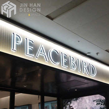 Factory cheap custom metal shell acrylic surface luminous signage letters