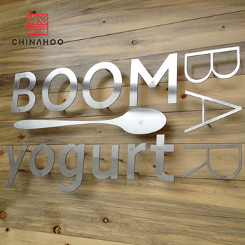 Hot sale 3D Signage waterproof Mirror Outdoor 316 polished stainless steel letters