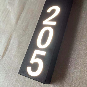 High Quality Stainless Steel Hotel Apartment Signage plastic number sign room hotel
