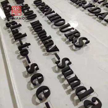 Chinahoo gold flat stainless steel signage wall cut out metal logo letters