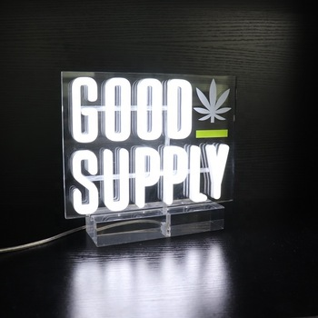 OEM acrylic neon letters logo making 3D led neon light glowing table top 360 degree neon light logo printing china factory