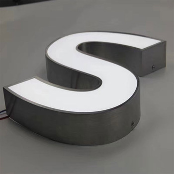 Hight quality  3D face lit stainless steel led channel signage letter sign