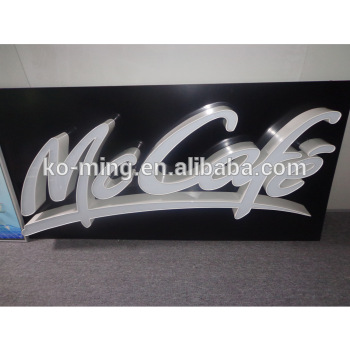 Easy installation outdoor building advertising signage far visible 3d led letter with raceway