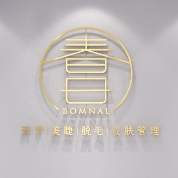 Customized stainless steel small metal logo, 3D metal letter signs