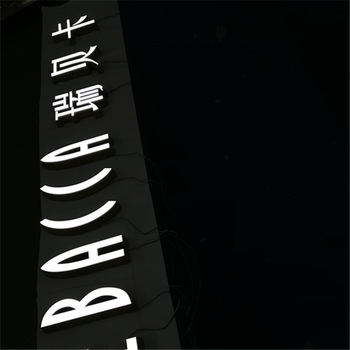 exterior and interior sign LED letters logo customized front lit signage with bevel edge for advertising