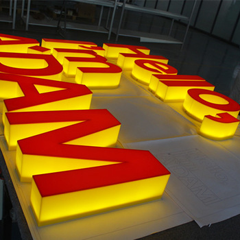 customized acrylic alphabet number channel letter full lit waterproof signage light or without light