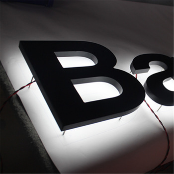 Super bright outdoor face lit and backlit led channel sign letter