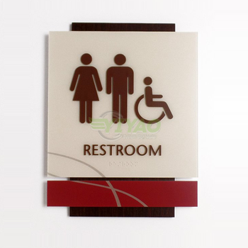 YIYAO signage hotel wall mounted acrylic toilet sign